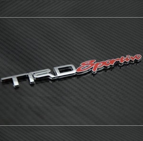 Emblem TRD SPORTIVO Mobil Universal Toyota Avanza Innova Calya Rush Terios 2018 Agya