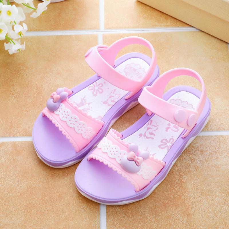Anak Prempuan Sandal Summer 2018 Musim Panas Model Baru Sepatu Anak-anak Siswa Sekolah Dasar