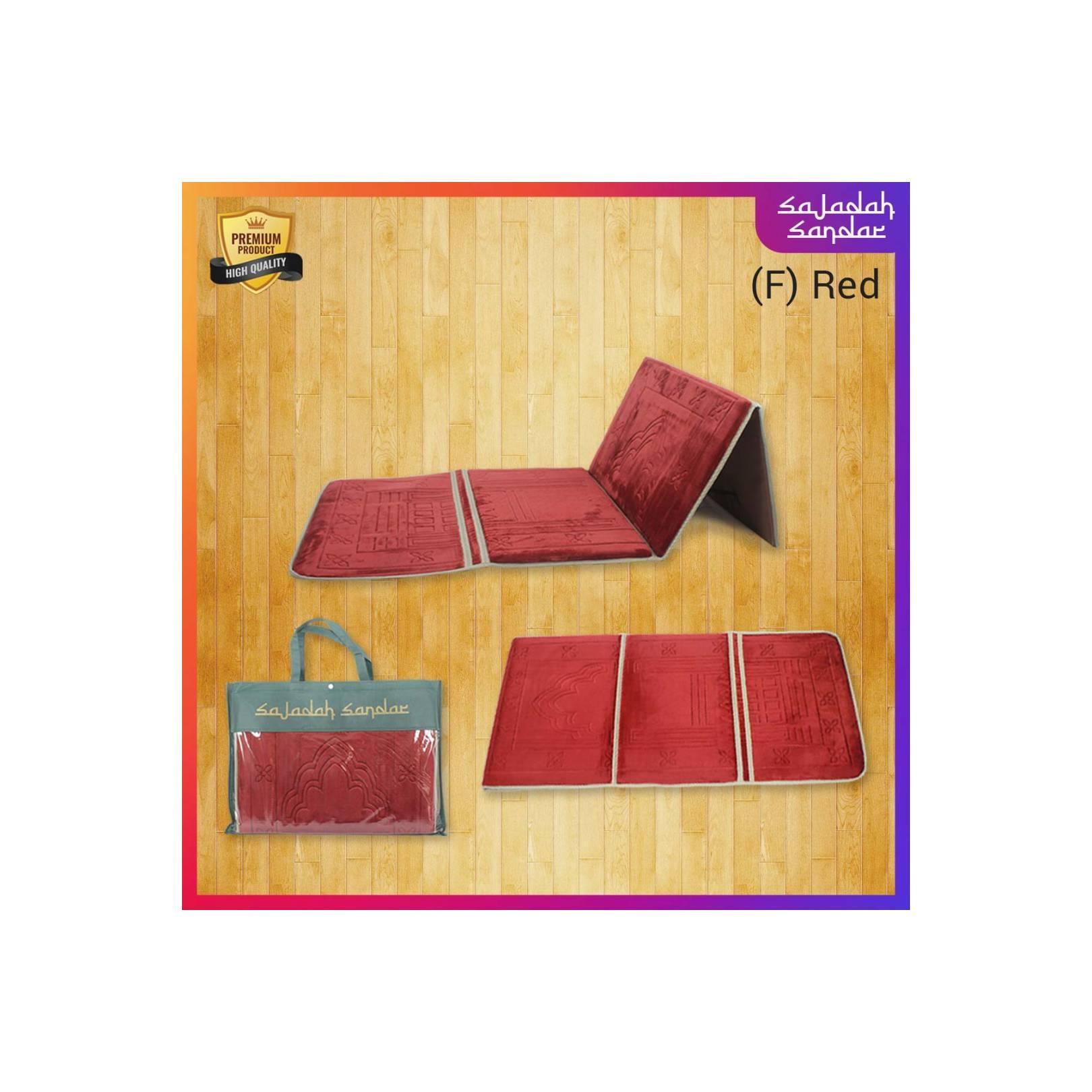 Sajadah / Sajadah Sandar / Sajadah Merah / Sajadah Praktis - Merah