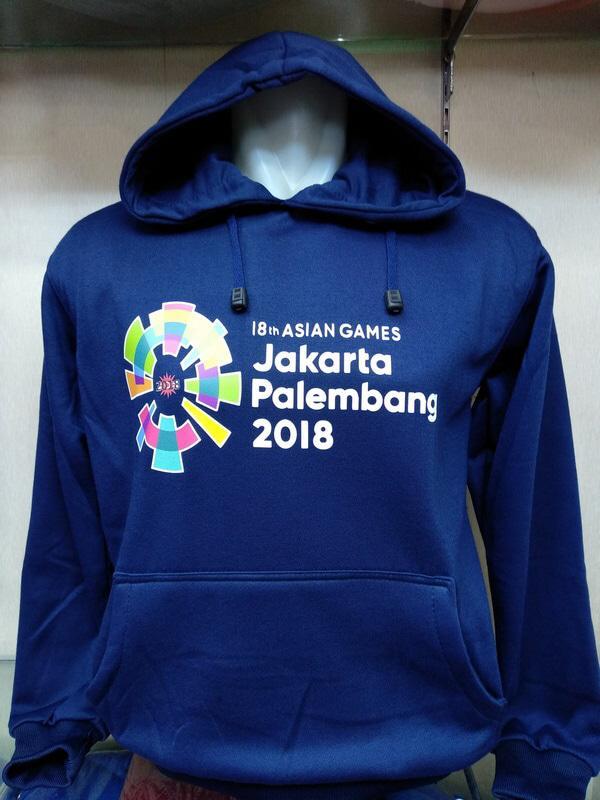 PROMO !! jaket hoodie zipper asian games 18 jakarta palembang 2018