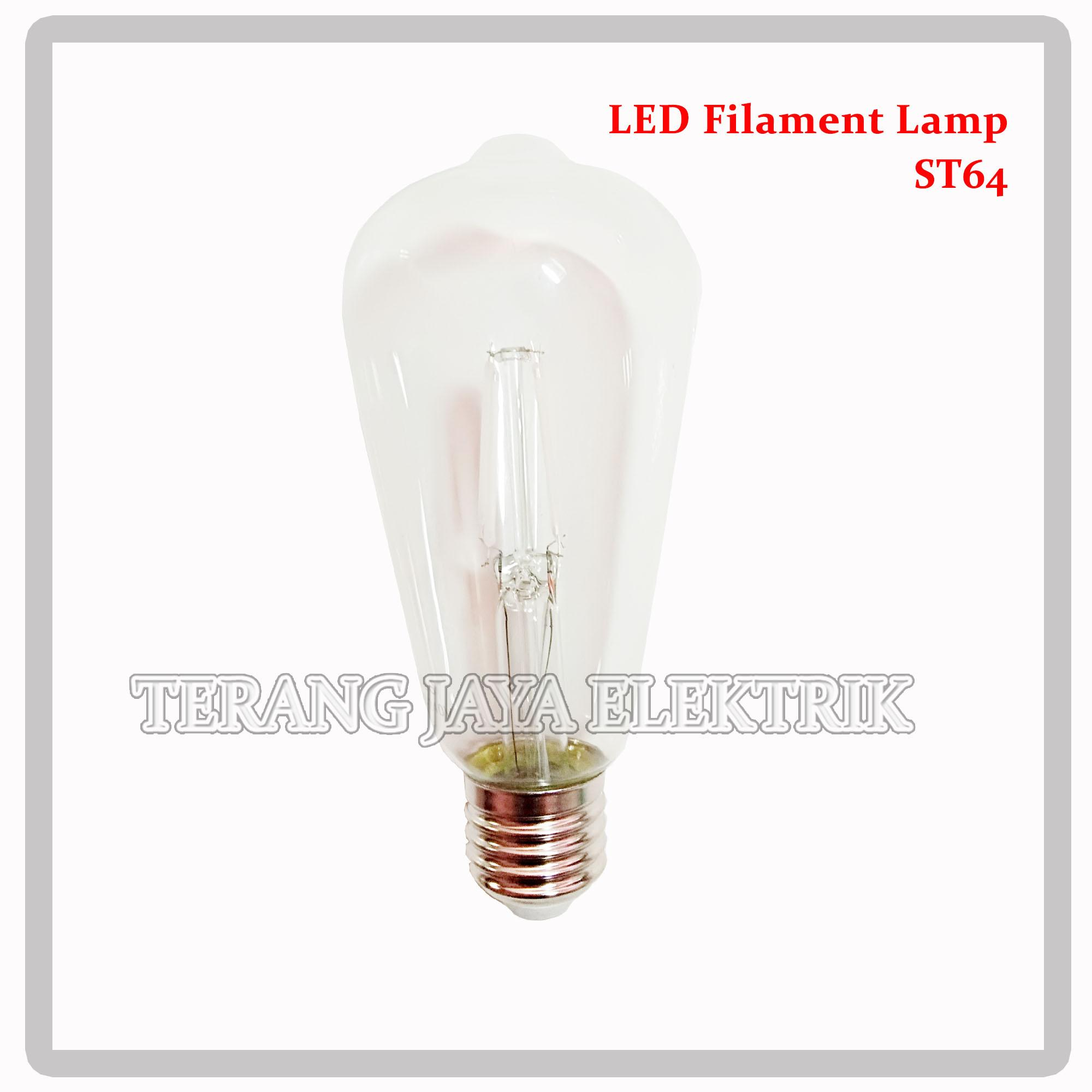 Lampu Led Filament 4 watt Biru E27 ST64