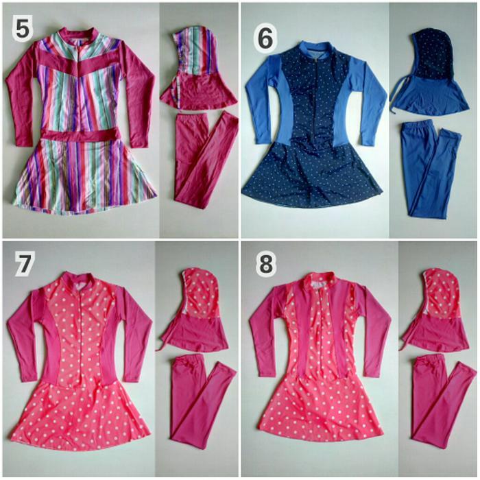 BEST SELLER!!! Baju Renang Muslimah anak SD Motif Cantik - vvED1r