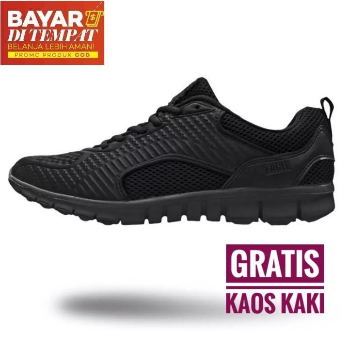 Eagle Rico Sepatu Sneakers Lifestyle - Black/Black