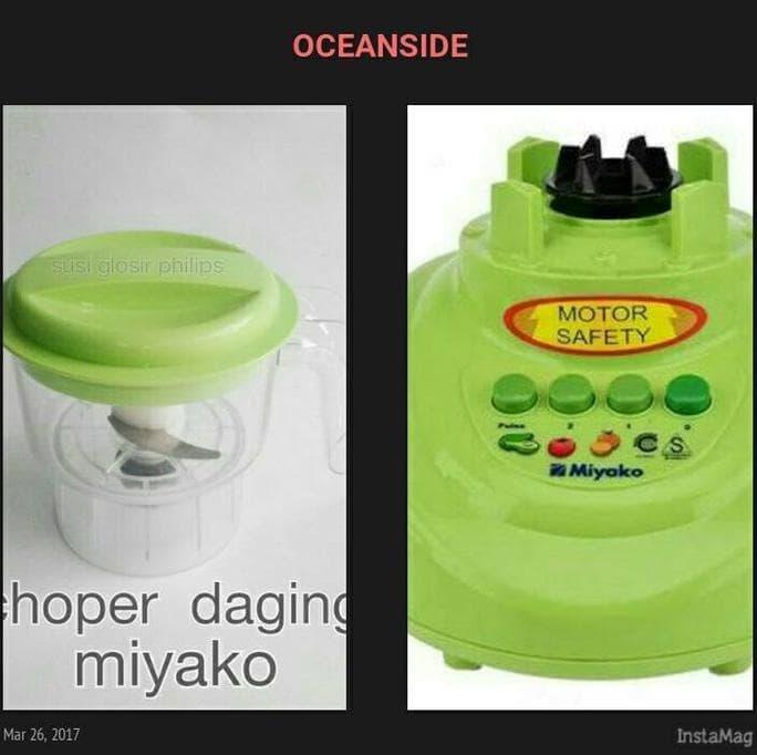 Jual Choper Daging Baru Dan Mesin Blender Miyako Second Promo