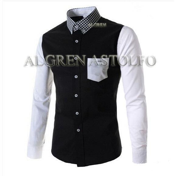 Algren Baju Hem Kemeja Pria Astolfo lengan panjang - Hitam / Regular fit / Casual / Polos / Kerja / Kantor / Katun / Kem Tangan Panjang Cowo / Atasan Cowok / Pakaian Laki laki Dewasa