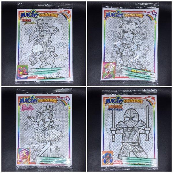Magic Painting Mewarnai Aktivitas Anak PAUD Coloring Murah Bukan Buku