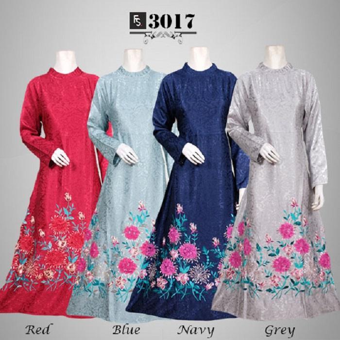 Toko Kirana Surabaya Gamis maxi dress baju gaun pesta busana muslim Baju Pesta Vanessa FS3017