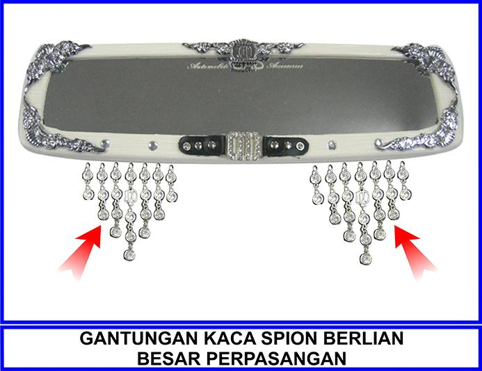 Gantungan Kaca Spion Berlian Besar Perpasangan By Katzia Accessories.