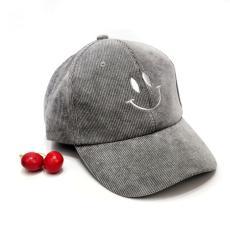 Anak-anak modis topi bisbol Korea Selatan orang trendi bordir Wajah  Tersenyum korduroi topi lidah 8ebbb0fb0f