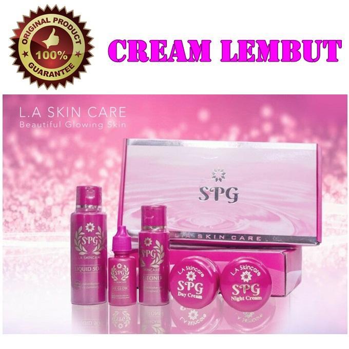 Paket Cream SPG Extra Strong [Krim Lembut] LA Skin Care - Krim Pemutih Wajah - Glowing Instant - Dijamin Original