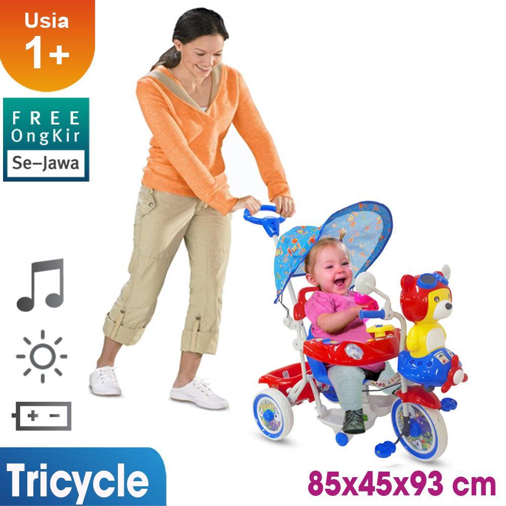 Mainan Sepeda Anak Gratis Ongkir Full Se-Jawa Sepeda Roda Tiga Mainan Anak T08 By Ocean Toy.
