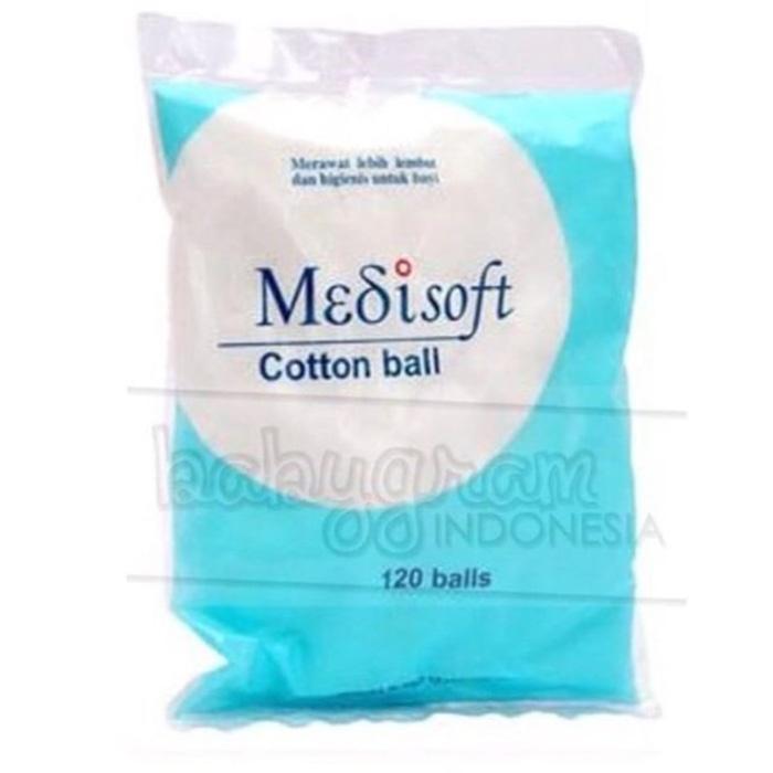 ASLI!!! Kapas Medisoft Cotton Ball 120 balls - Zhbajx