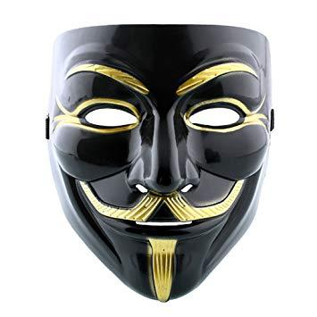 Topeng Vendetta Mask Occupy Anonymous Cosplay - Hitam