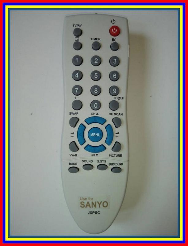 Remot Remote TV Tabung Sanyo Jxpsg KW