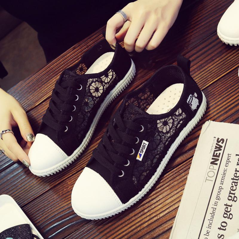 Sepatu Wanita Baru Sandal Musim Panas Tembus Udara Remaja Anak Perempuan (Hitam)