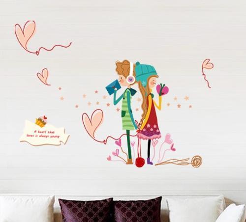 Set Stiker Dekorasi Dinding Motif Cinta Remaja di Musim Dingin MP RAMAYANA 1594