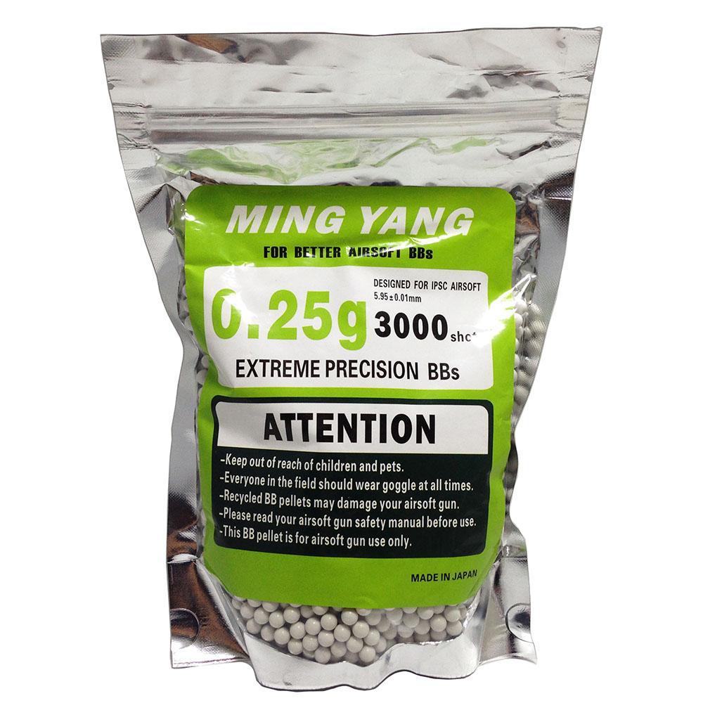 Ming Yang BB Gotri 0,25g 3000 shots 5.95mm - Putih