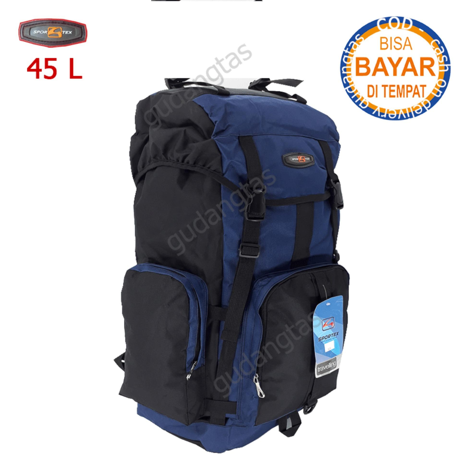 Jual Tas Ransel Hiking Terbaik Tenda Kap 4 5 6 Sportex Gunung Keril Carrier Camping 45l 04yy40l Dongker Kombinasi Hitam