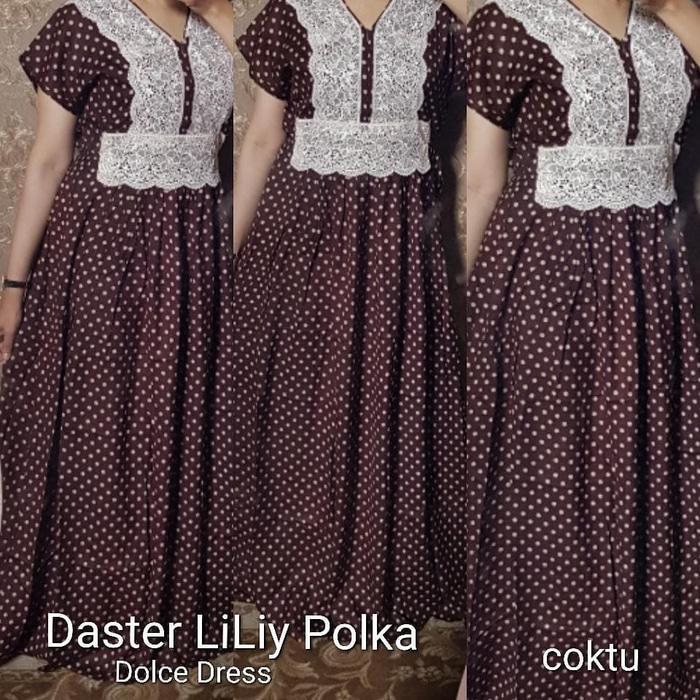 daster arab/india/dubai/turki dolce lily polka dress busui