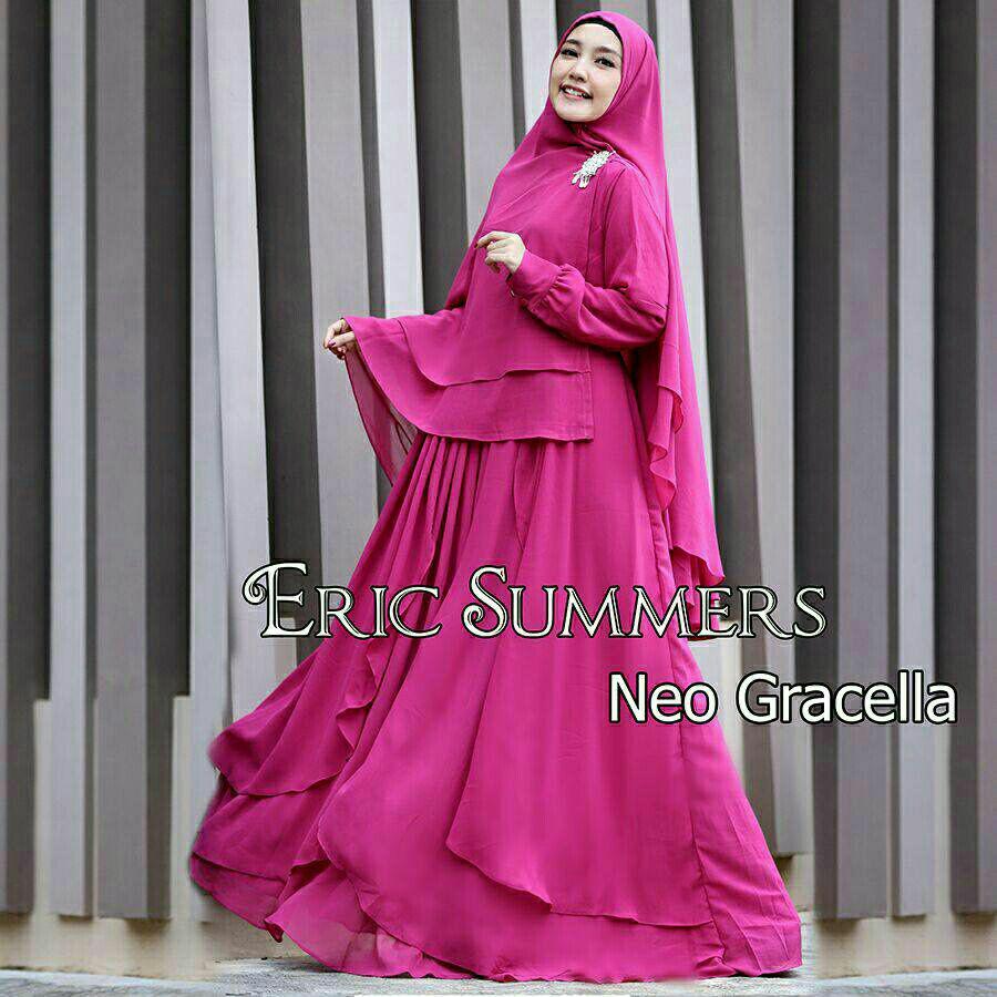 Nurul Collection-Baju muslim wanita  Gamis syari polos  Gamis Syari  murah Gamis a6600aae1b