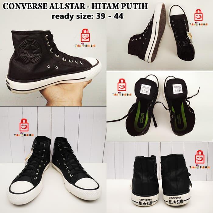 Sepatu Converse All Star Hight Hitam Putih - LblKOb