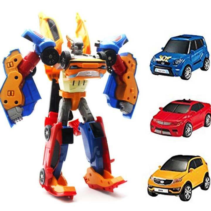 Mainan Anak Mobil Tritan 3 Mobil bisa jadi 1 Robot