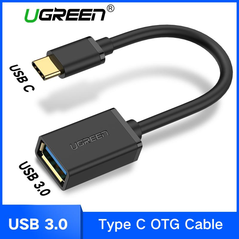UGREEN USB C OTG Kable USB 3.0 OTG Adapter Type C OTG for Samsung galaxy s8 s9 HUAWEI P10 P20 mate10 pro Macbook USB OTG 15cm