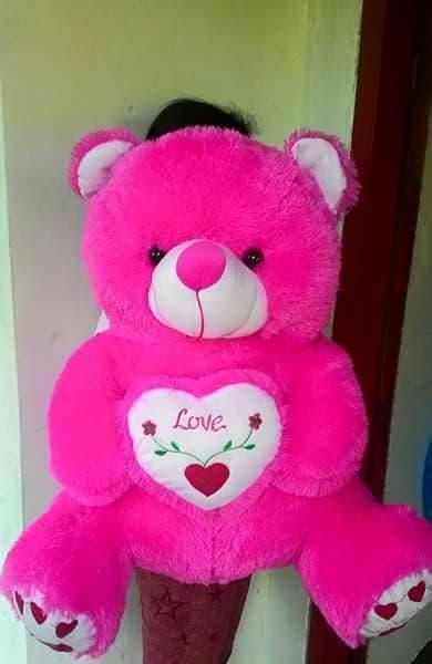 Boneka teddy bear love duduk|boneka beruang love duduk Boneka08959