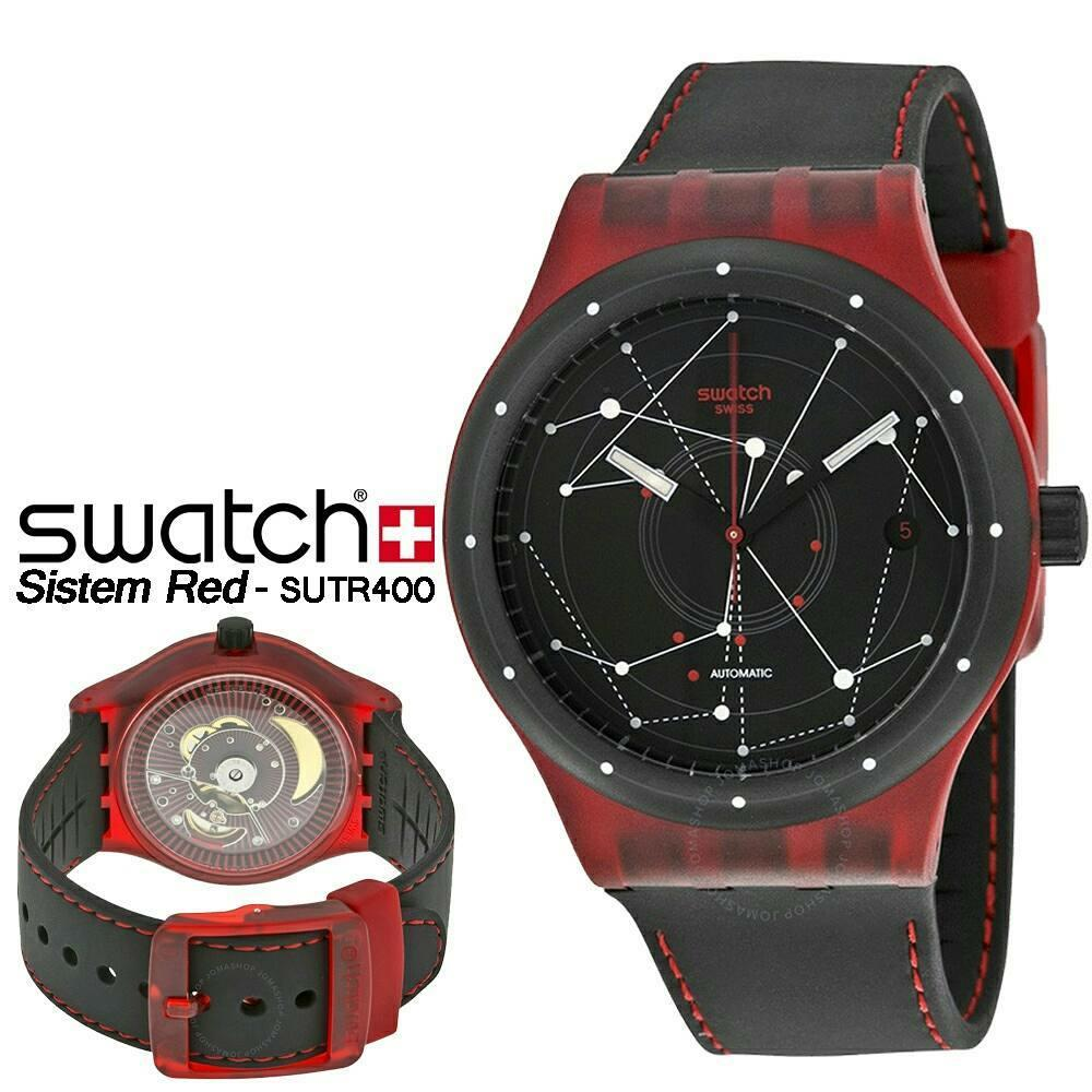 Buy Sell Cheapest Swatch Suon708 Best Quality Product Deals Suob721 Jam Tangan Pria Hitam Original Sutr400 Sistem Red