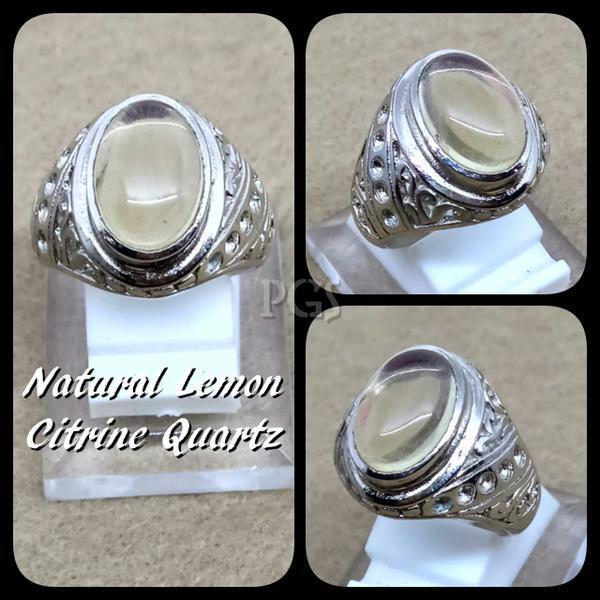 NEW Promo Perhiasan CINCIN BATU AKIK PERMATA NATURAL CITRINE QUARTZ HIGH QUALITY PREMIUM Murah