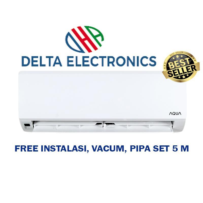 Aqua AQA-KCR5ANE AC Split [0.5 pk]]+Instalasi+Vacum+Pipa 5M+Kabel+Braket+Duct Tape