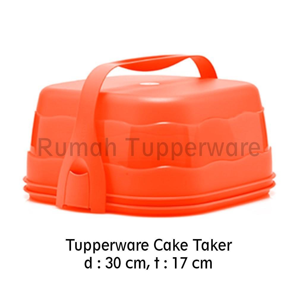 Tupperware Cake Taker Square Red (Tempat Cake)