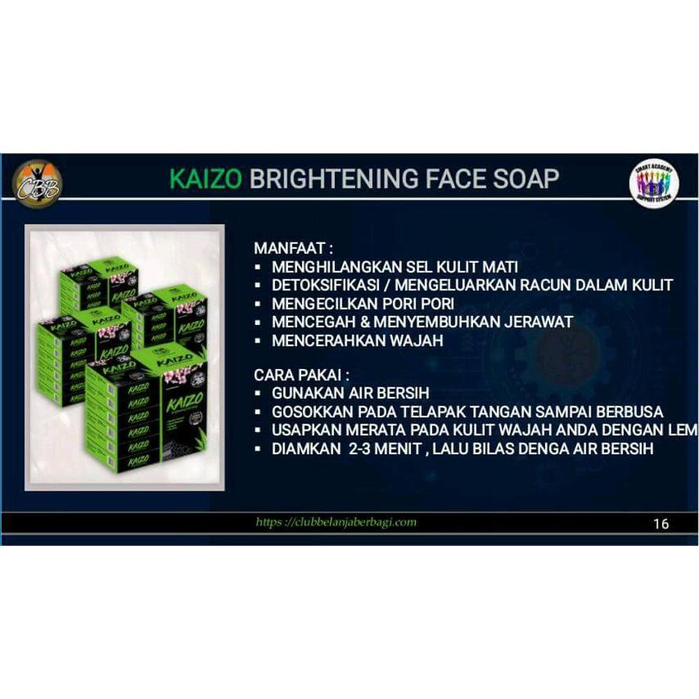 Obat Jerawat Ampuh Sabun KAIZO BRIGHTENING FACE SOAP