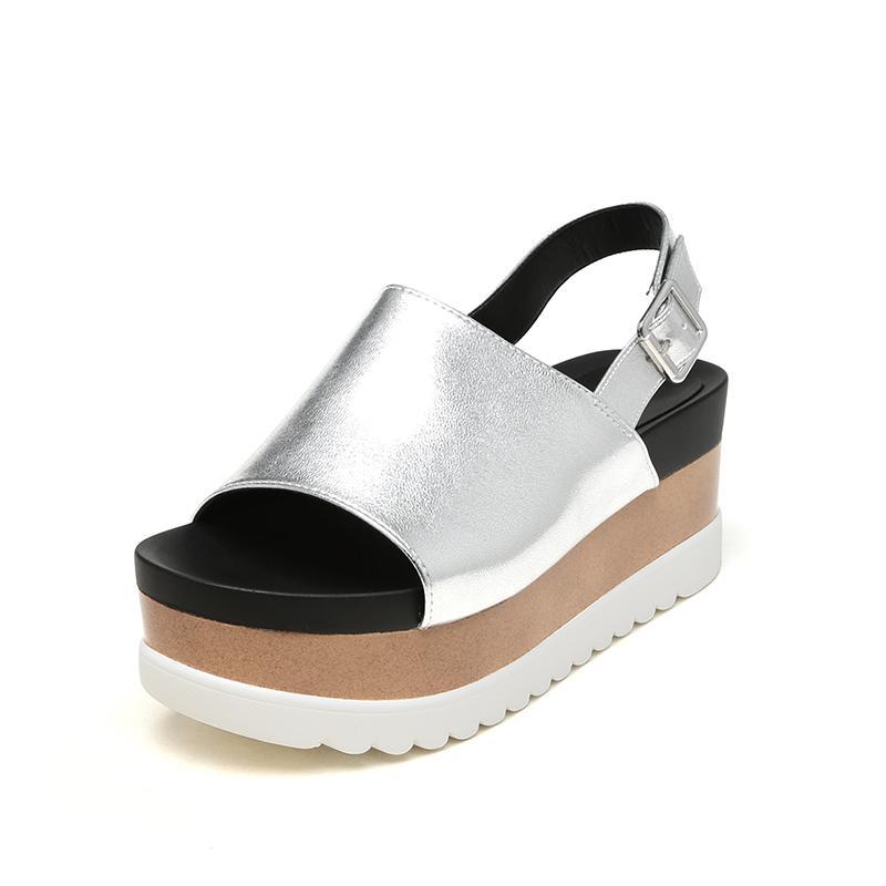 Kotak Sandal Summer Lemari Sepatu Bertumit Tinggi Sepatu Wanita Gesper Huruf Yi