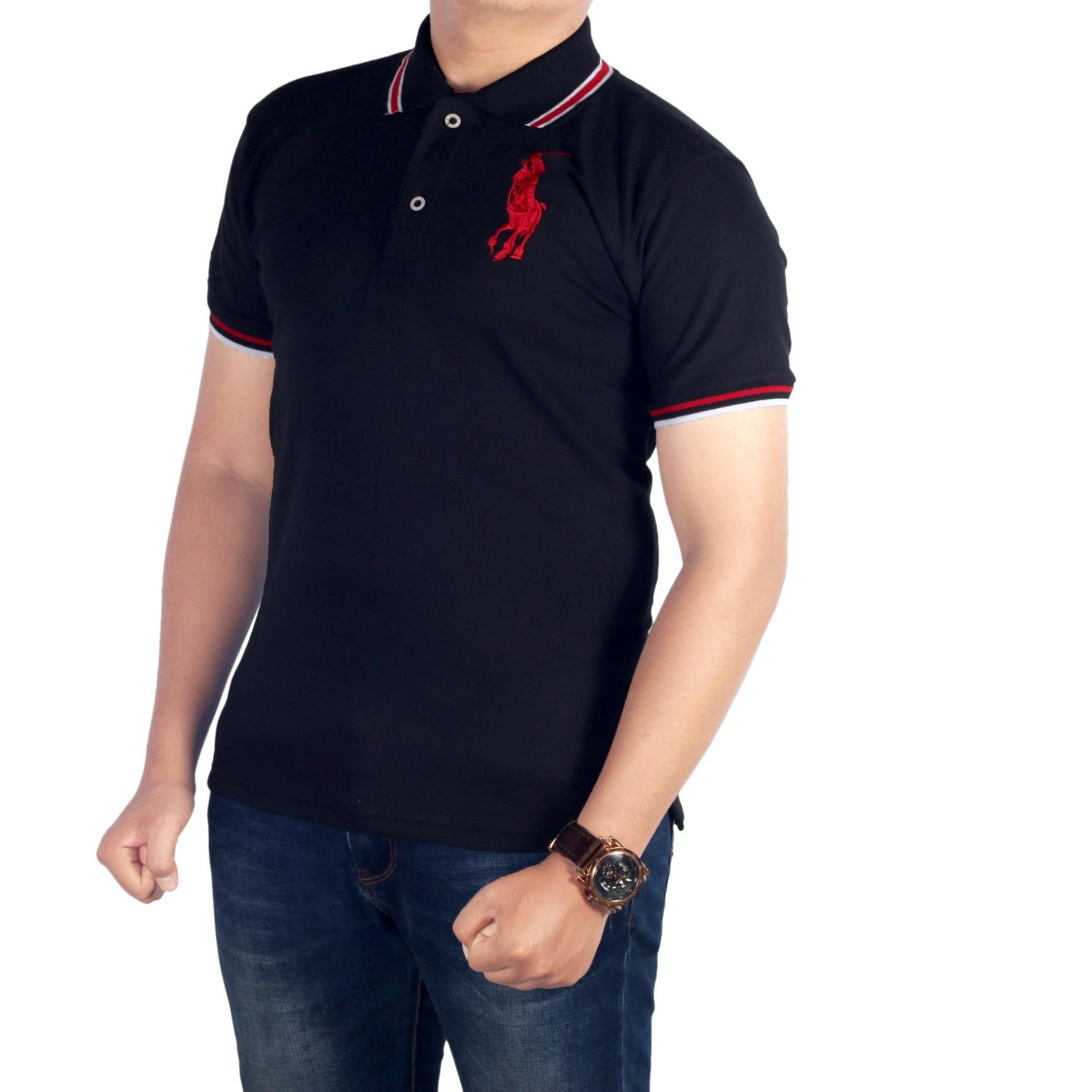 Dgm_Fashion1 Kaos Polo Kerah Hitam Polos/Polo Kaos/Polo Men/PolosHIRT/Baju Kaos/Kaos Distro/Polo Distro/Kaos MuRAH/Kaos Casual/Kaos Polos/Polo Polos IP 3909 Hitam