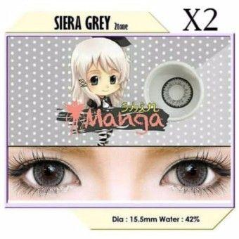Exoticon Softlens by X2 SHIN MANGA Big Eyes 15.5mm SIERA GREY - Minus 4.00