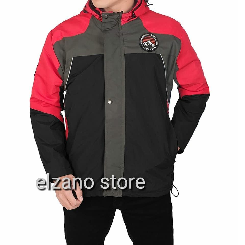 Jaket Mantel Musim Dingin Pria Parka Bgsr Hitam Bigs Outwear Waterproof Motor Parasut Anti Air Gunung Biru