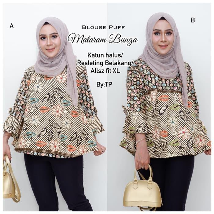blouse pastel-atasan batik-blouse batik-batik wanita-batik pastel