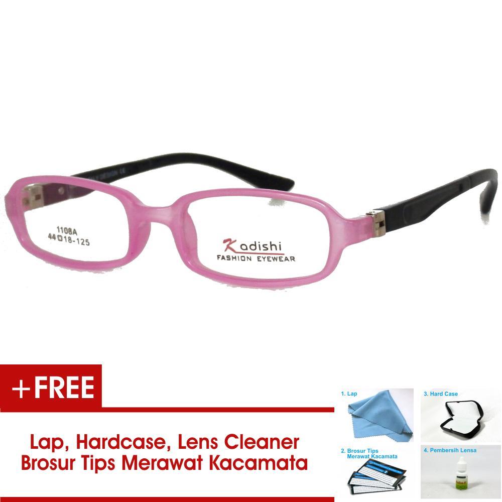 Frame Kacamata Anak FKIDS 1108A Hitam Merah Muda Bisa Dipasang Lensa Minus  Di Optik Terdekat c6d317bc43