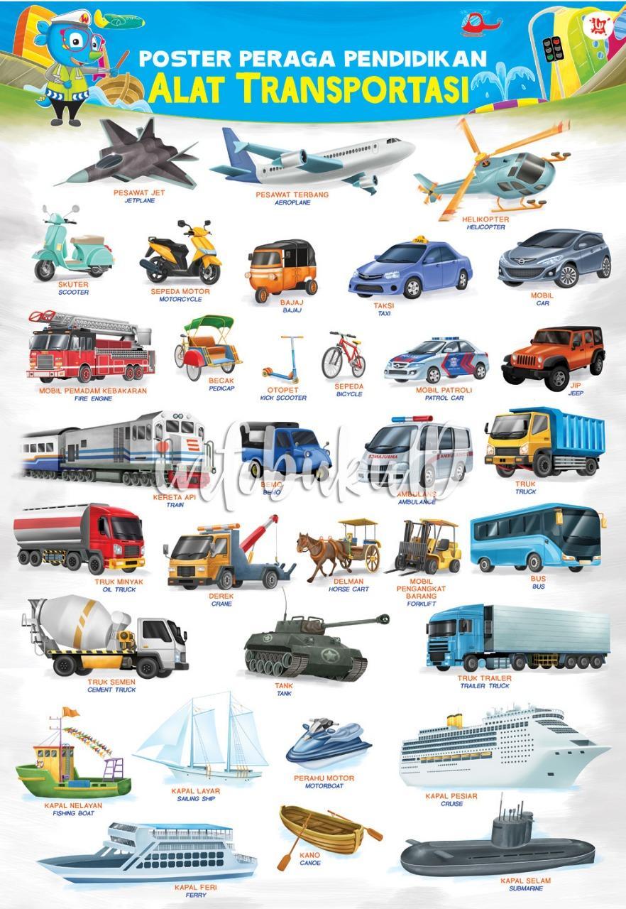 Poster Peraga Pendidikan Alat transportasi