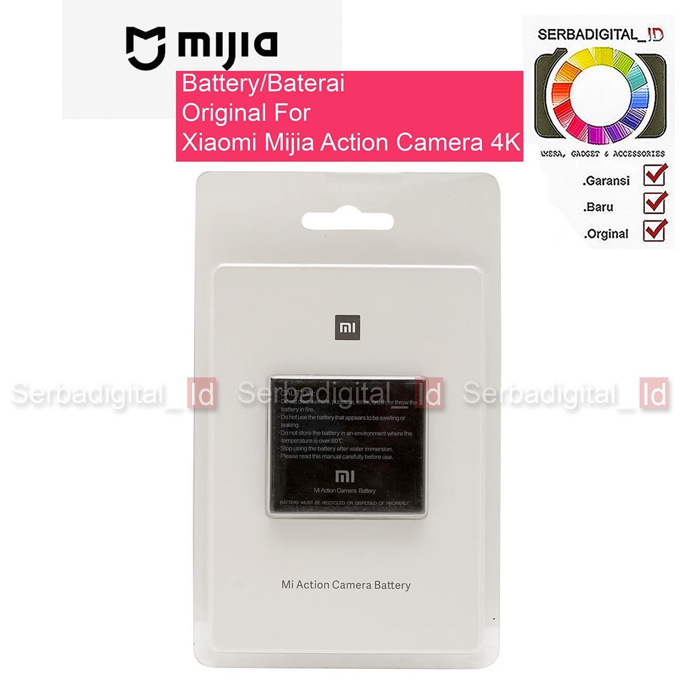 Battery/Baterai RLDC01FM Original For Xiaomi Mijia Action Camera 4K - Hitam