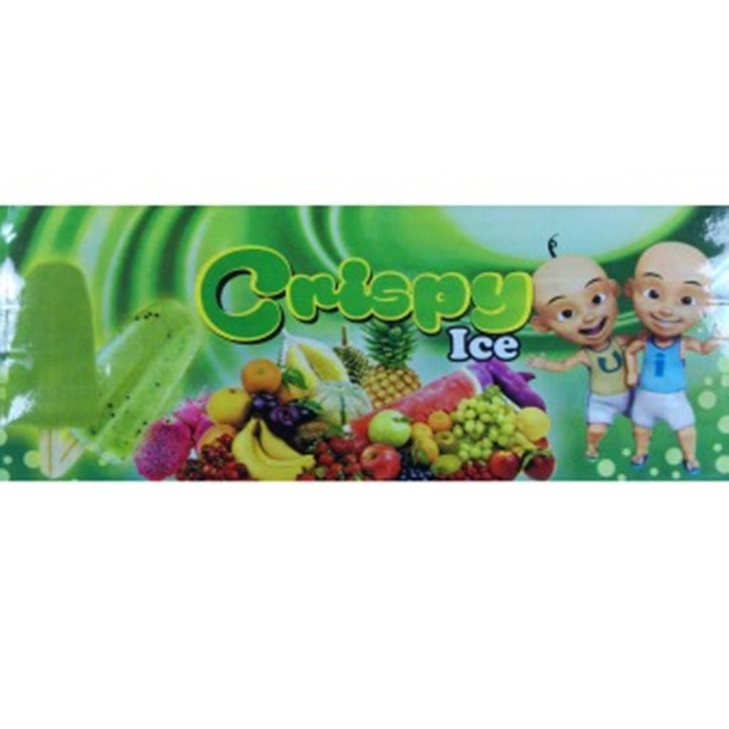 contoh kemasan es krim | jual kemasan es krim stik | macam-macam kemasan es krim | model kemasan es krim  Crispy Hijau