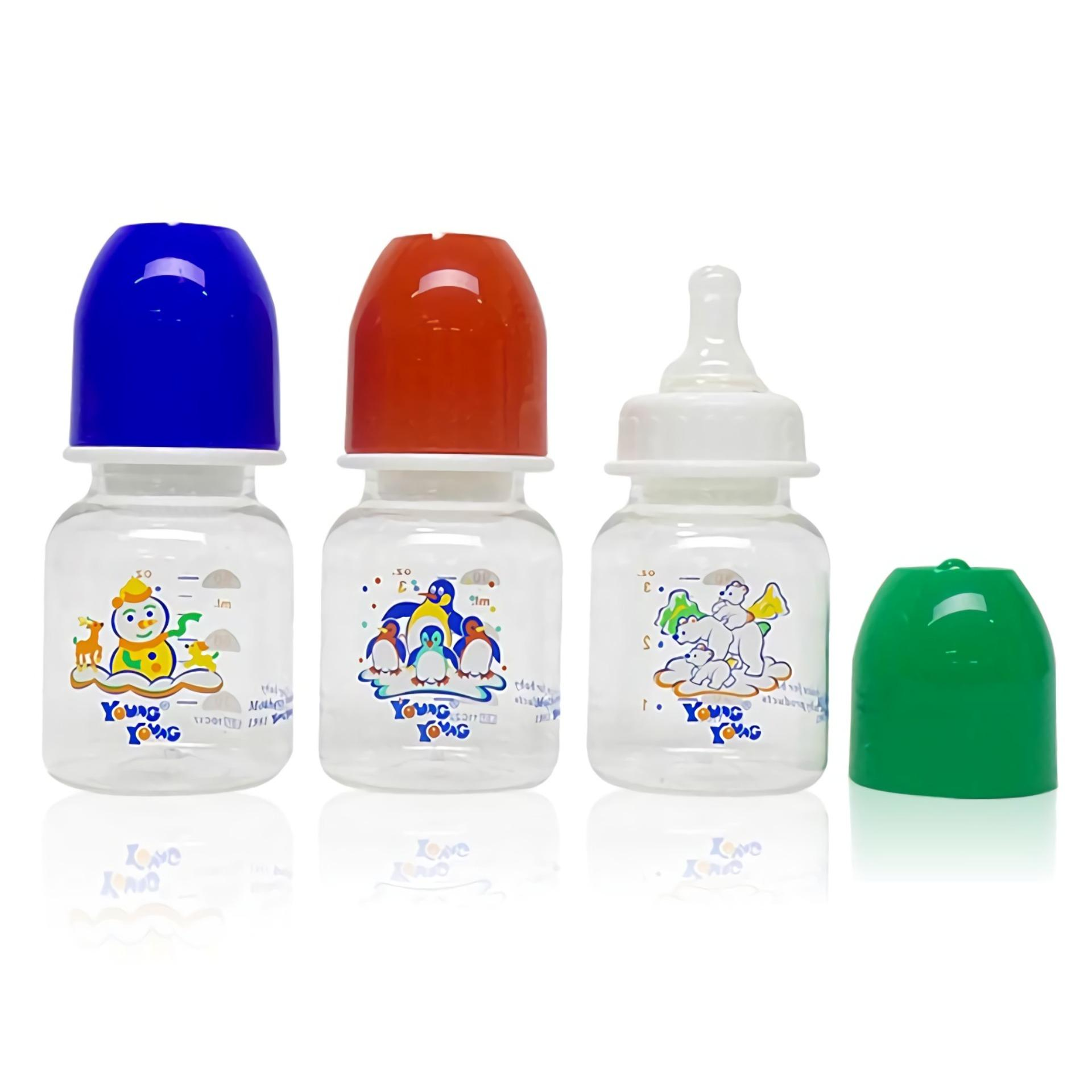 Young Young Botol Susu IL-COMBO-3PCS-YY-807 Baby Bottle 90 ML Paket Gift Set