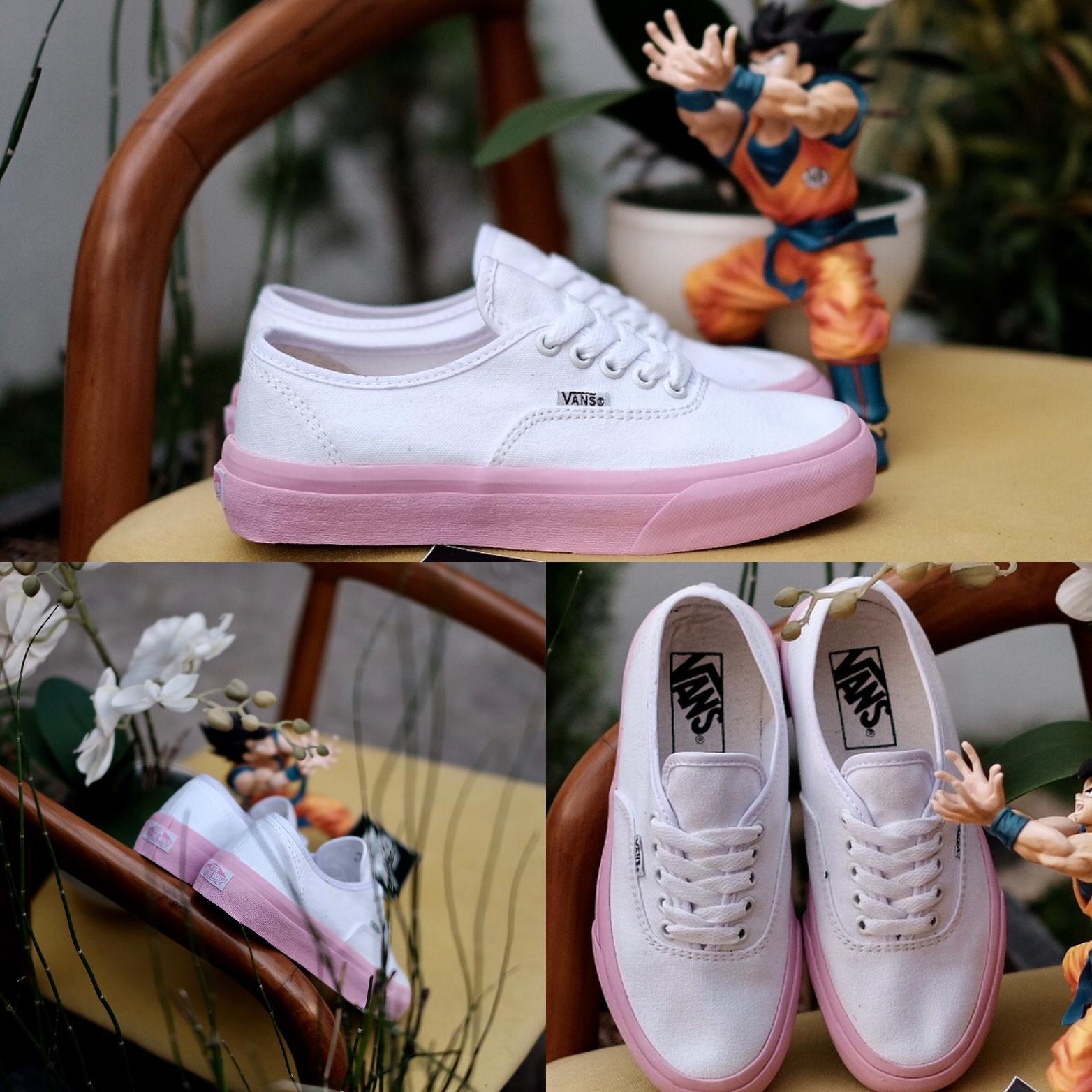 Sepatu Vans Authentic Pink Black Import Premium BINB China