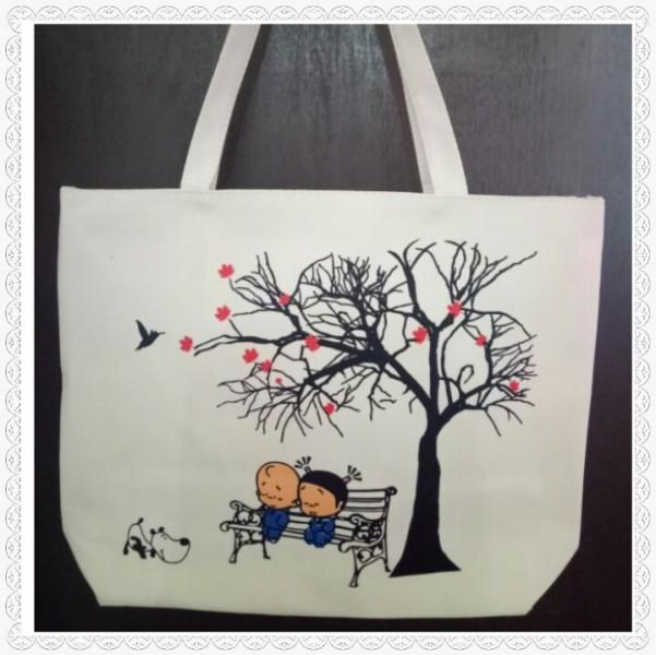 Tote Bag Printed Canvas / Tas Kain Kuat Motif Kanvas
