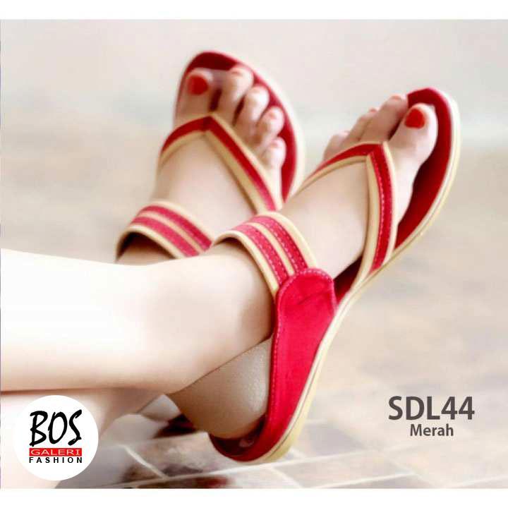 Sandal Wanita Tali Jepit  Sepatu Sendal Cewek SDL44