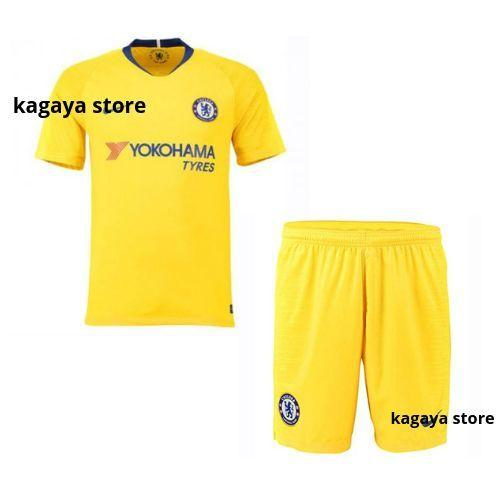 Kagaya Store Stelan Jersey Bola Replica Shirt Jersey Chelsea Away 2018/2019 Ukuran S M L XL