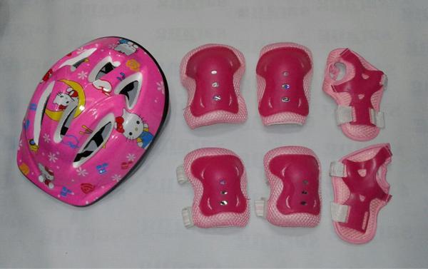 ORIGINAL!!! Helm buat anak Sepeda,sepatu roda Sama Pelindung Tangan,Siku,dengkul - shMJJi