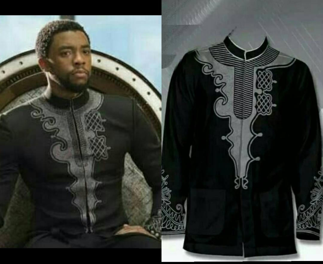 Kemeja muslim pria/Baju Koko Ngetren/Baju Koko Lebaran  koko terbaru/Jasko  muslim wear  baju muslim  koko pria PANTHER black (motif bordir tebal)