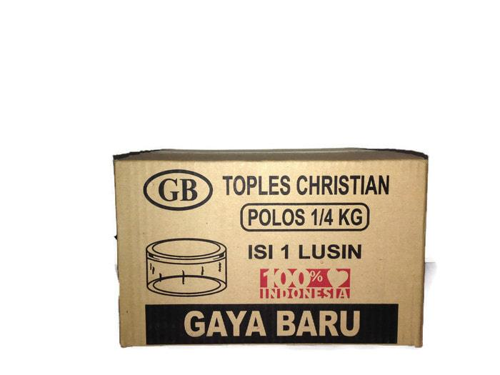 Gaya Baru Toples Christian Kue Kering Nastar Plastik Mika 250 Gram